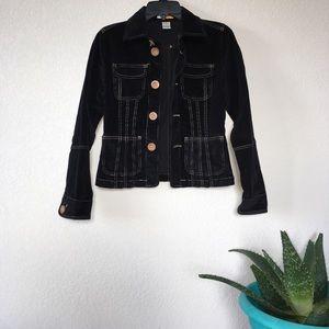 Anthropologie Petite Velvet Corduroy Jacket